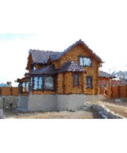 дом в деревне Шачебол