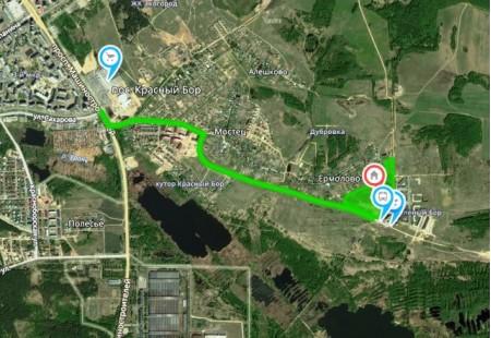 схема проезда в коттеджный посёлок Солнечный Бор
